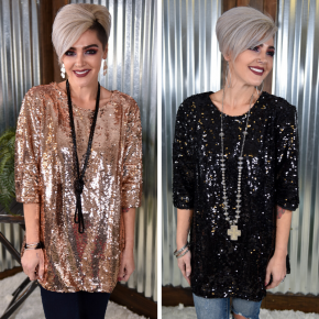 Party Time Sequin Top