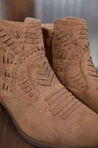 Tan Tribal Bootie