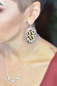 Tan Leopard Earrings