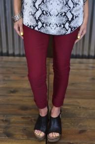 Garnet Hyperstretch Skinny Pants