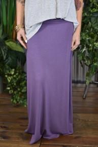Lilac Grey Maxi Skirt