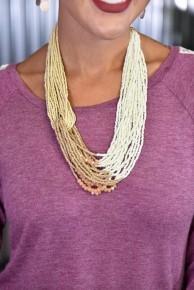Ivory & Cream Layered Short Necklace