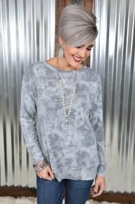 Heather Grey Tye Dye Sweatshirt