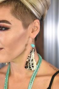 Turquoise & Leopard Grace Earrings