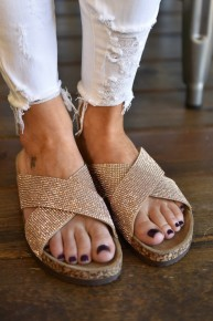 Rose Gold Showstoppin' Sandals