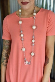 Chunky Pearl & Beads Necklace