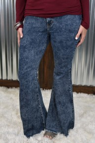 Judy Blue Acid Wash Super Flare Jeans