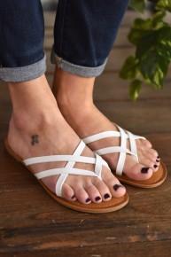 White Lupie Sandals