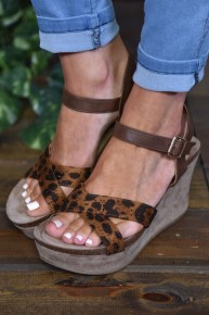 Leopard Laura 3 Wedges