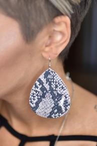 """Snake 3"""" Earrings"""