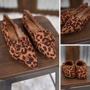 Leopard Justify Flats
