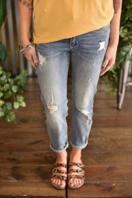 Judy Blue Destroyed Relax Fit Jeans