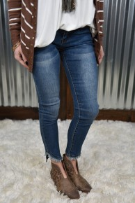 L & B Curved Hem Skinny Jeans
