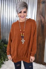 Rust Chenille Oversized Sweater
