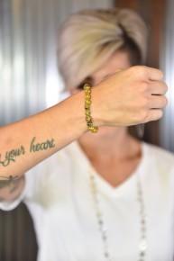 Yellow Stone Beaded Bracelet