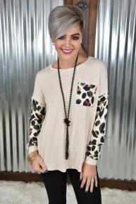Melody Leopard L/S Top