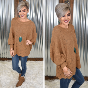 Mocha Dolman Sweater