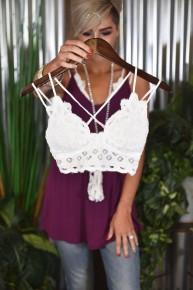 White Crochet Lace Bralette