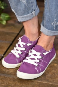 Purple Canvas Sneakers