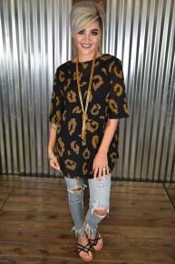 Leopard Soft Knit S/S Top