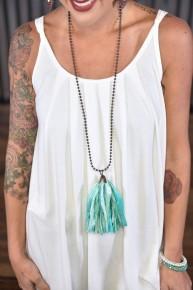 Tidal Wave Tassel Necklace