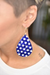 Blue Star Spangled & Sparkling Earrings