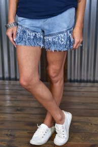 *FINAL SALE* Light Wash Fray It Aint So Shorts