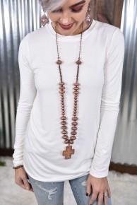 Copper Navajo Cross Necklace