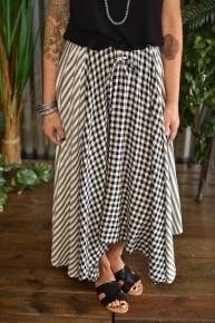 CLEARANCE Plaid Mix Skirt