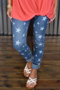Judy Blue Star Skinny Jeans