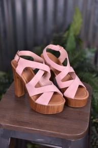 Blush Renee Wood Heels