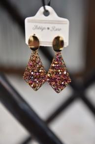 Rose Copper Evening Allure Earrings
