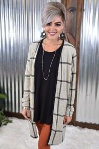 Heather Grey Button Down Cardigan