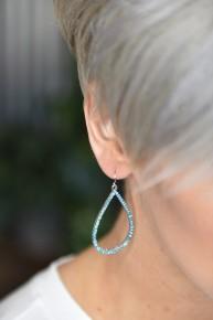 Aqua Teardrop Earrings