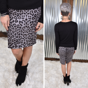 Snow Leopard Perfectly Poised Pencil Skirt