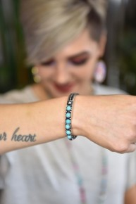 Turquoise Stones Stretch Bracelet