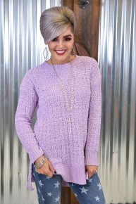 Lavender Popcorn Sweater