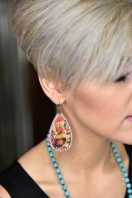 Floral Teardrop Earrings