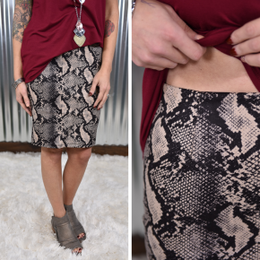Snake Perfectly Poised Pencil Skirt