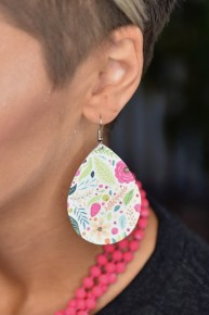 White Floral Earrings