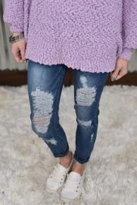 L & B Distressed Ankle Jeans
