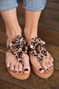 Leopard Anna Sandals