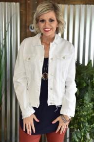 Judy Blue Classic White Denim Jacket
