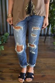 Judy Blue Destroyed Medium Wash Jeans