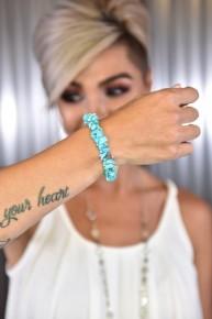 Turquoise Rock Steady Stretch Bracelet
