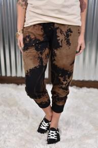 Black & Mocha Tye Dye Joggers