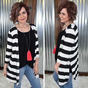 The Cozy Striped Cardigan