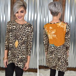 Leopard & Floral Contrast Top