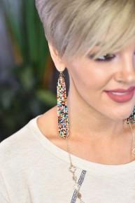 Multi Bead Tassel Earrings