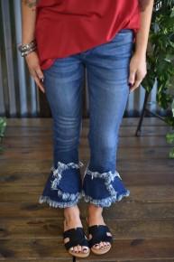 Judy Blue Tulip Hem Crop Jeans